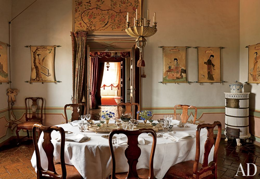 Traditional Dining Room in Lazio, Italy