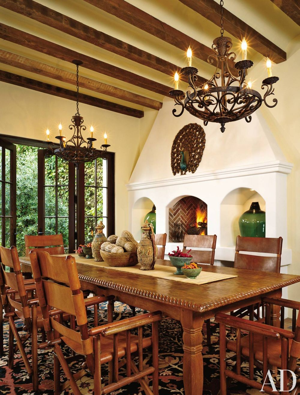 Traditional dining room by lorna auerbach associates