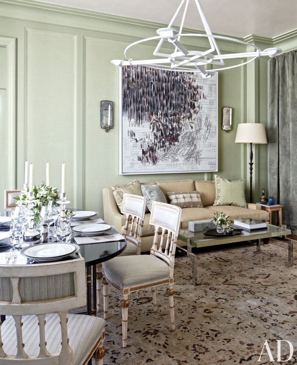 Traditional Dining Room by Michael S. Smith Inc. and Marvin Herman & Associates Architects in Chicago, Illinois