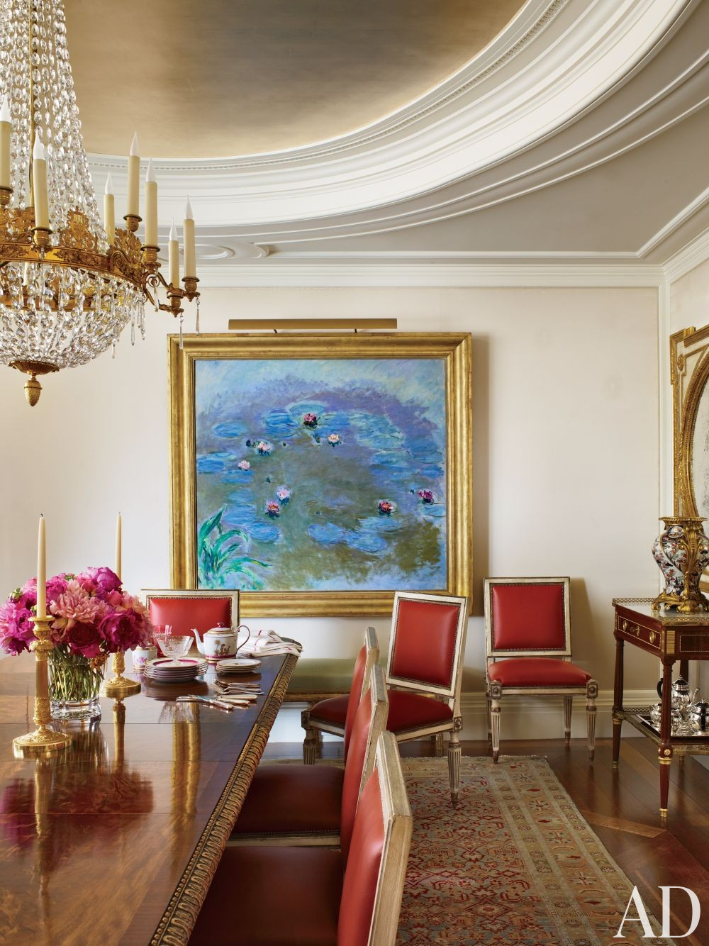 Traditional Dining Room by Michael S. Smith Inc. and Peter Pennoyer Architects in New York, New York