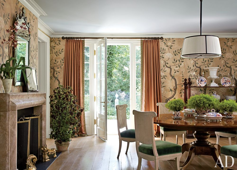Traditional Dining Room by Miles Redd and Knight Architecture in Greenwich, Connecticut