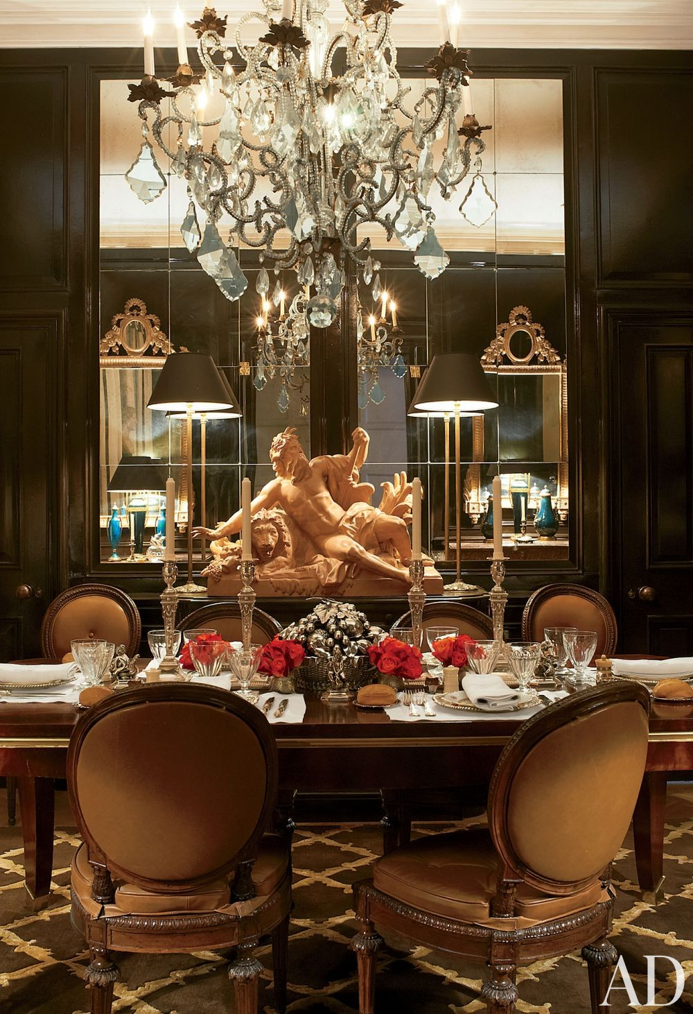 Traditional Dining Room by Paolo Moschino and Philip Vergeylen in London, England
