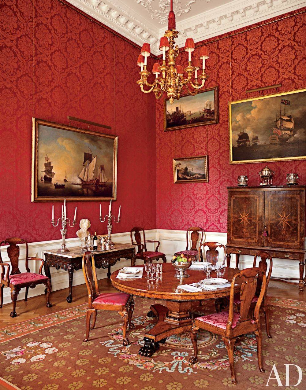 traditional dining room by spencer churchill designs inc and ptolemy