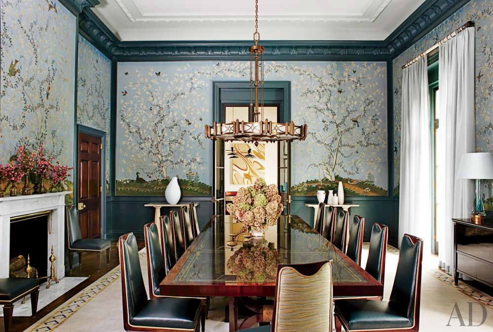 Traditional Dining Room by S.R. Gambrel Inc. and Oliver Cope Architect in Old Westbury, New York