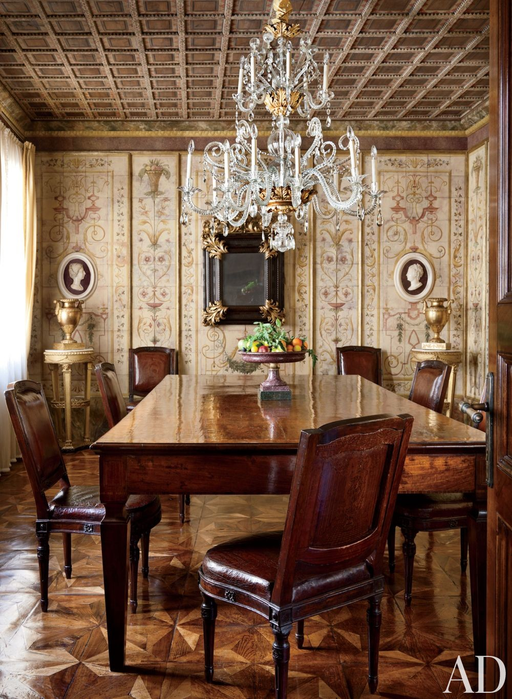 Traditional Dining Room by Studio Peregalli in Oderzo, Italy