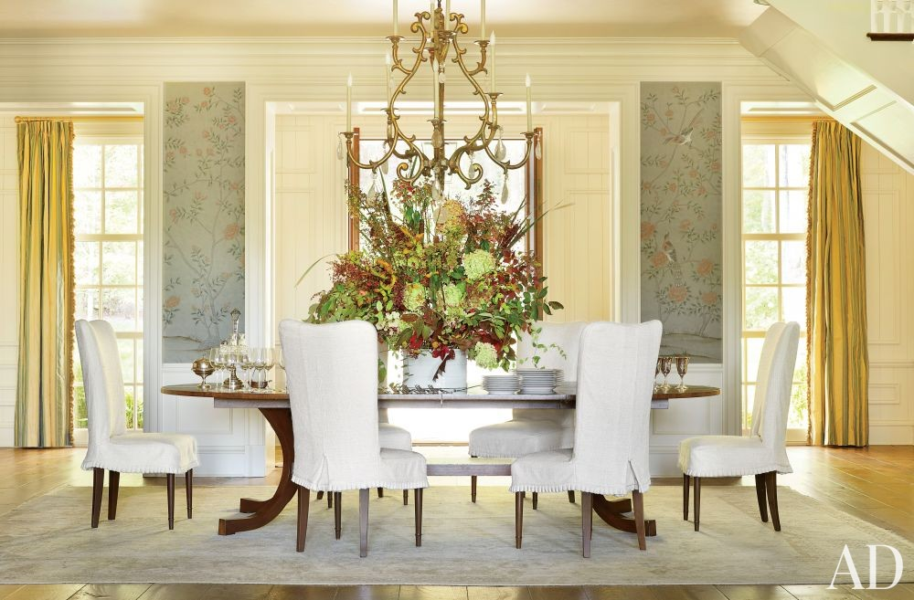 Traditional Dining Room by Suzanne Kasler Interiors and Spitzmiller & Norris in Walland, Tennessee