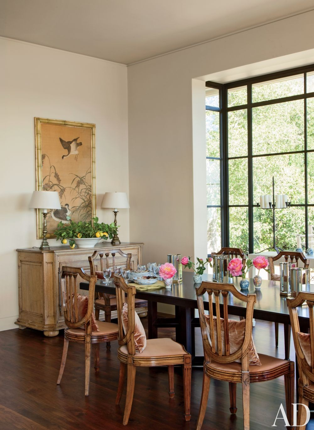 Traditional Dining Room by Suzanne Rheinstein & Assoc. and Manson-Hing Architecture in Montecito, California