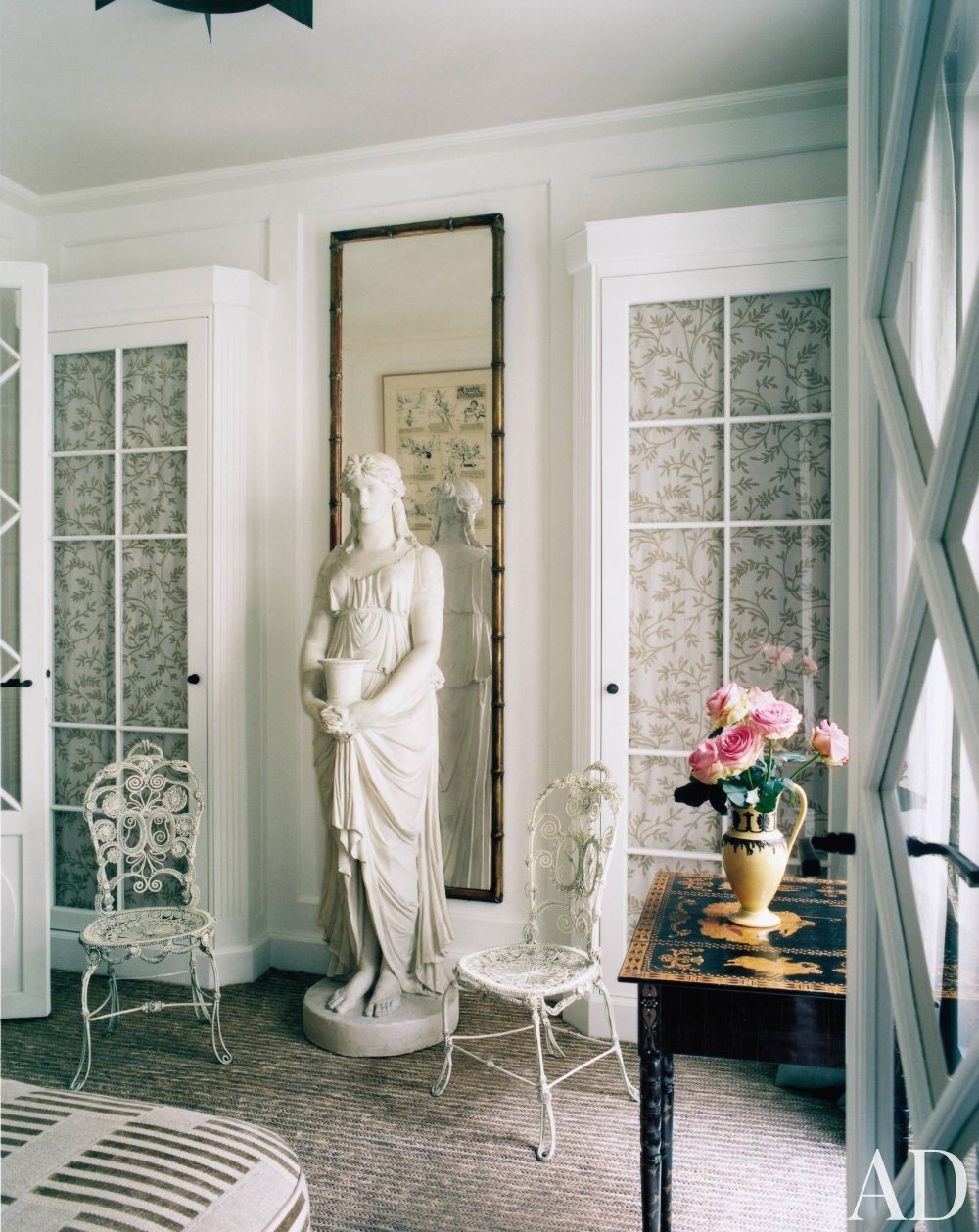 Traditional Dressing Room/Closet by Pierre Passebon and Jacques Grange in Paris