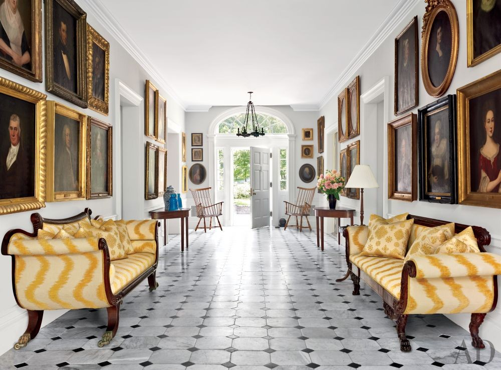 Traditional Entrance Hall by Alison Spear in Dutchess County, New York