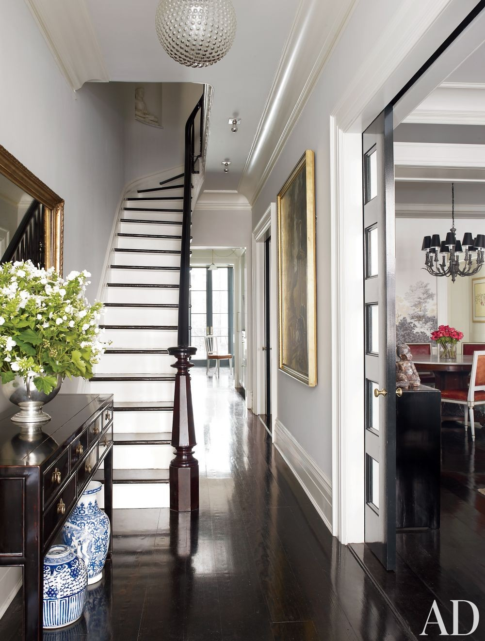 Traditional Entrance Hall by David Flint Wood and MADE in New York, New York