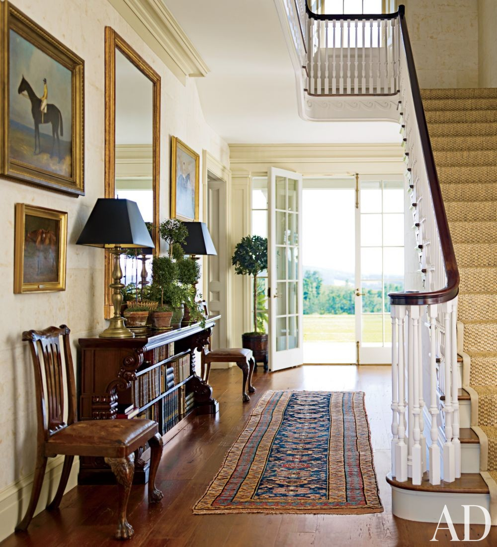 Traditional Entrance Hall by G. P. Schafer Architect in Dutchess County, New York