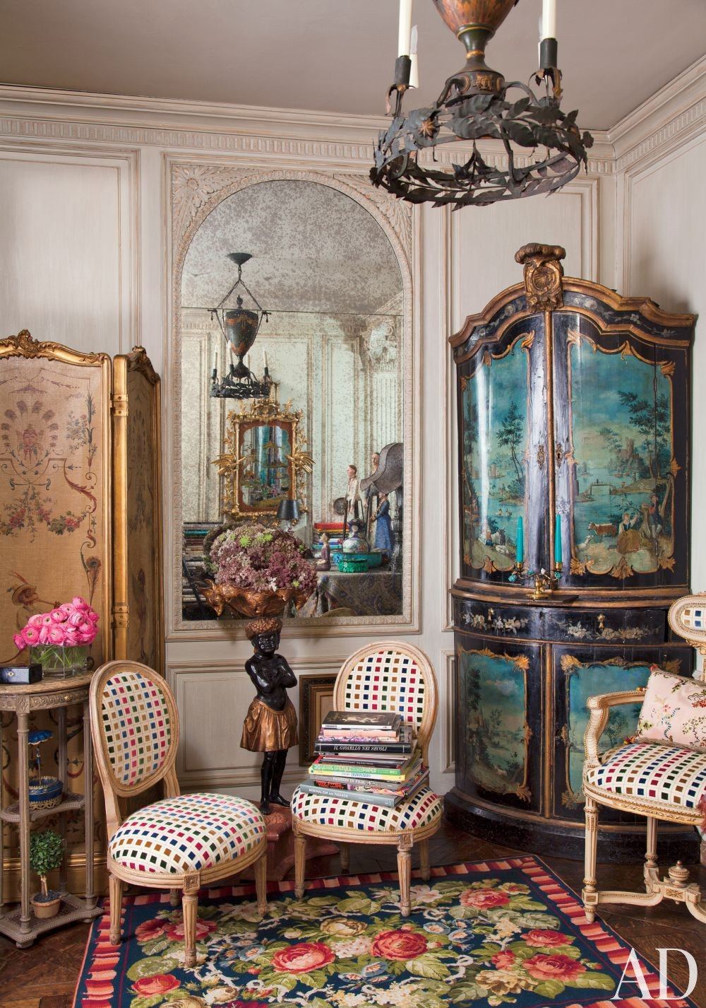 Traditional Entrance Hall by Iris Apfel in New York, New York