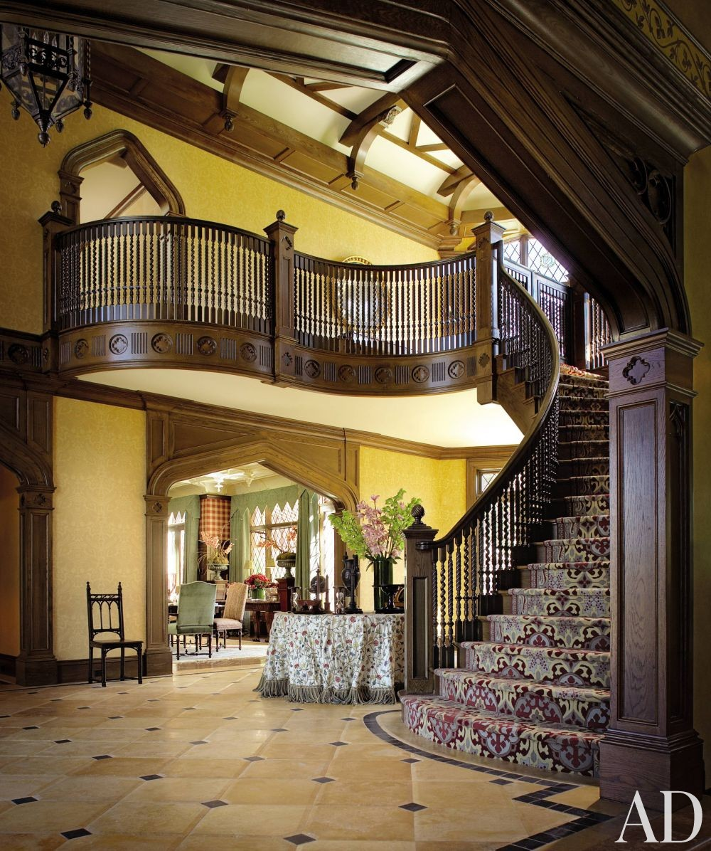 Foyer And Entrance Of The Windsor Hotel : Traditional entrance hall by mark hampton llc