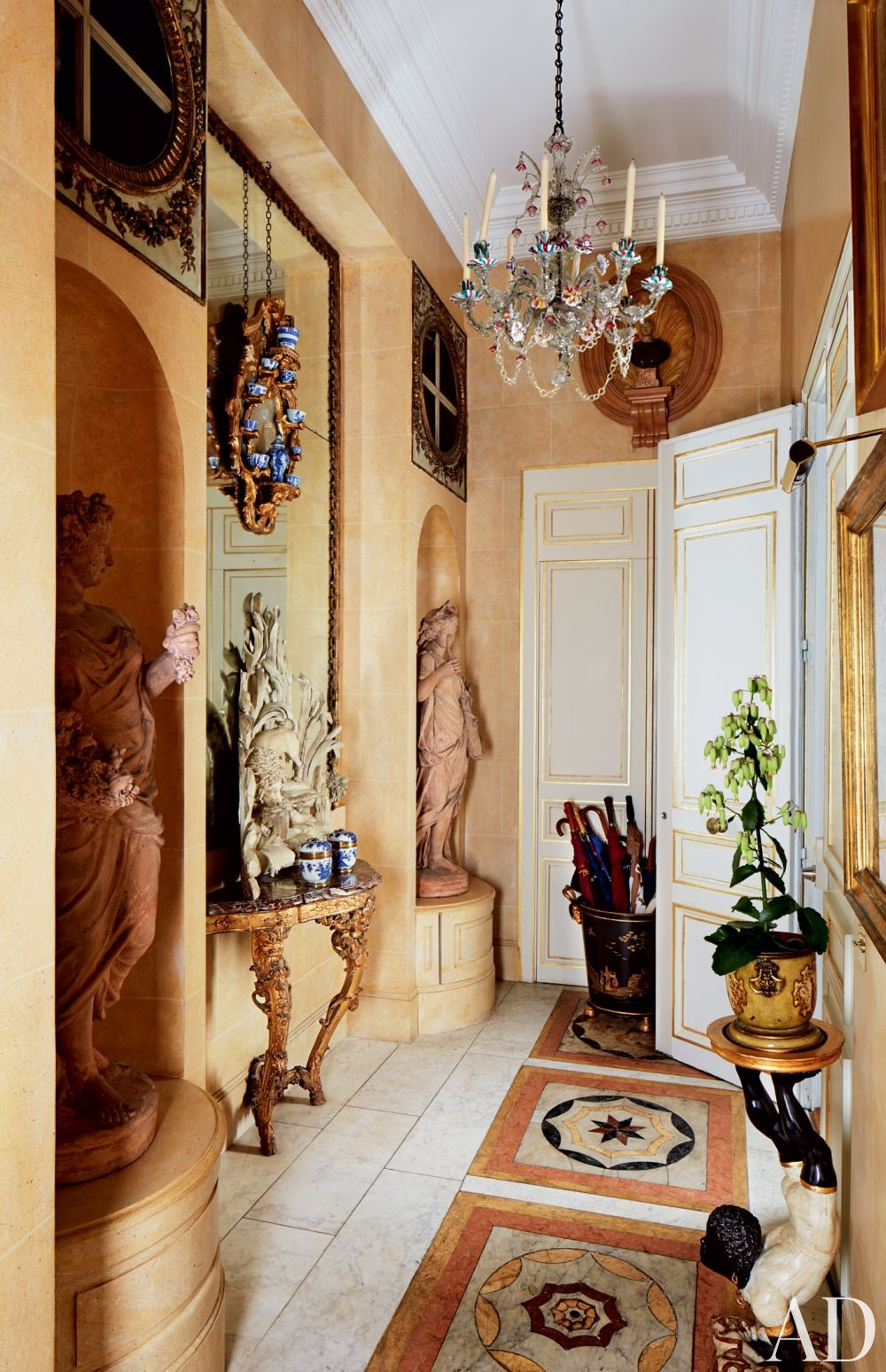 Traditional Entrance Hall in Paris, France