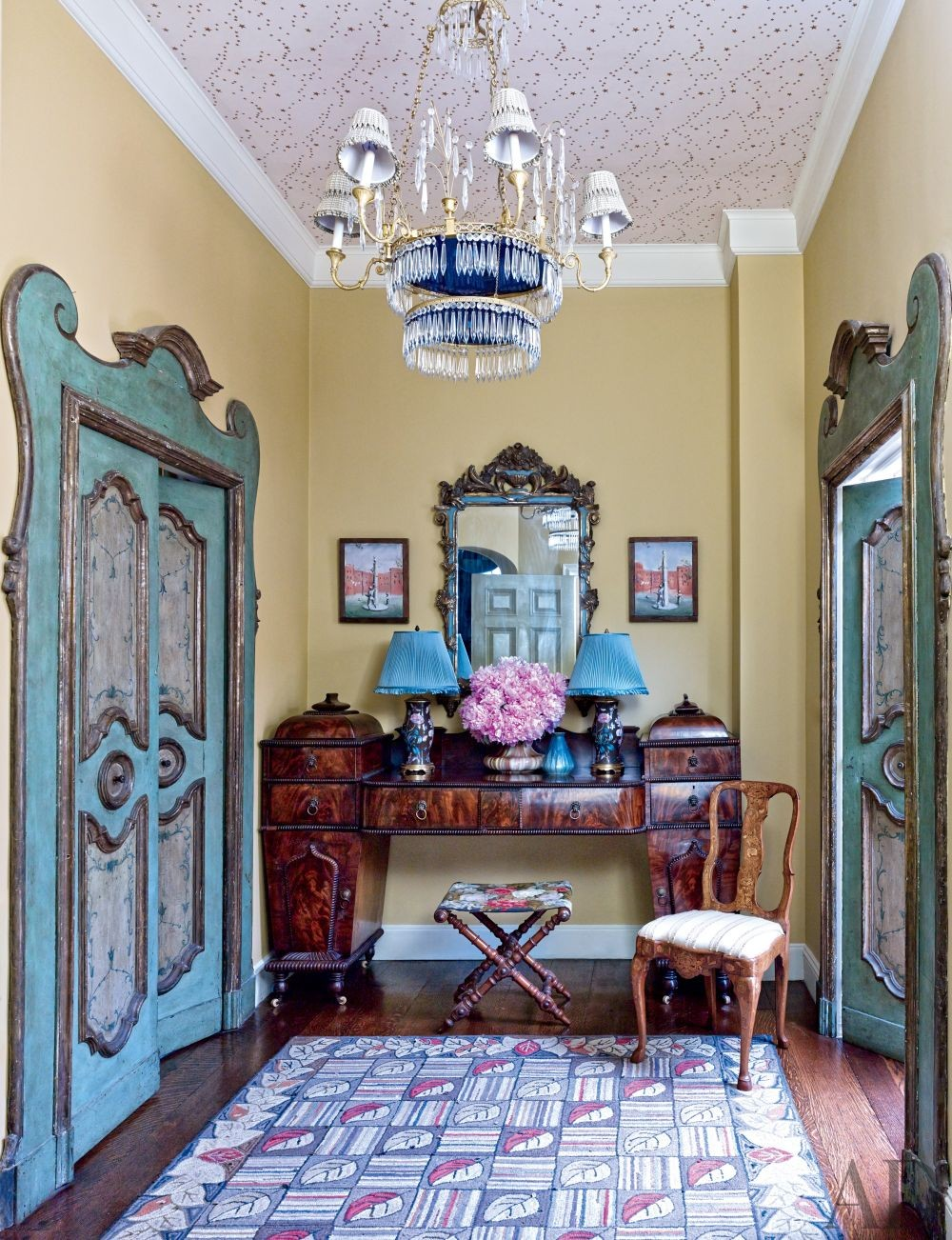 Traditional Entrance Hall by Rain Phillips in New York, New York