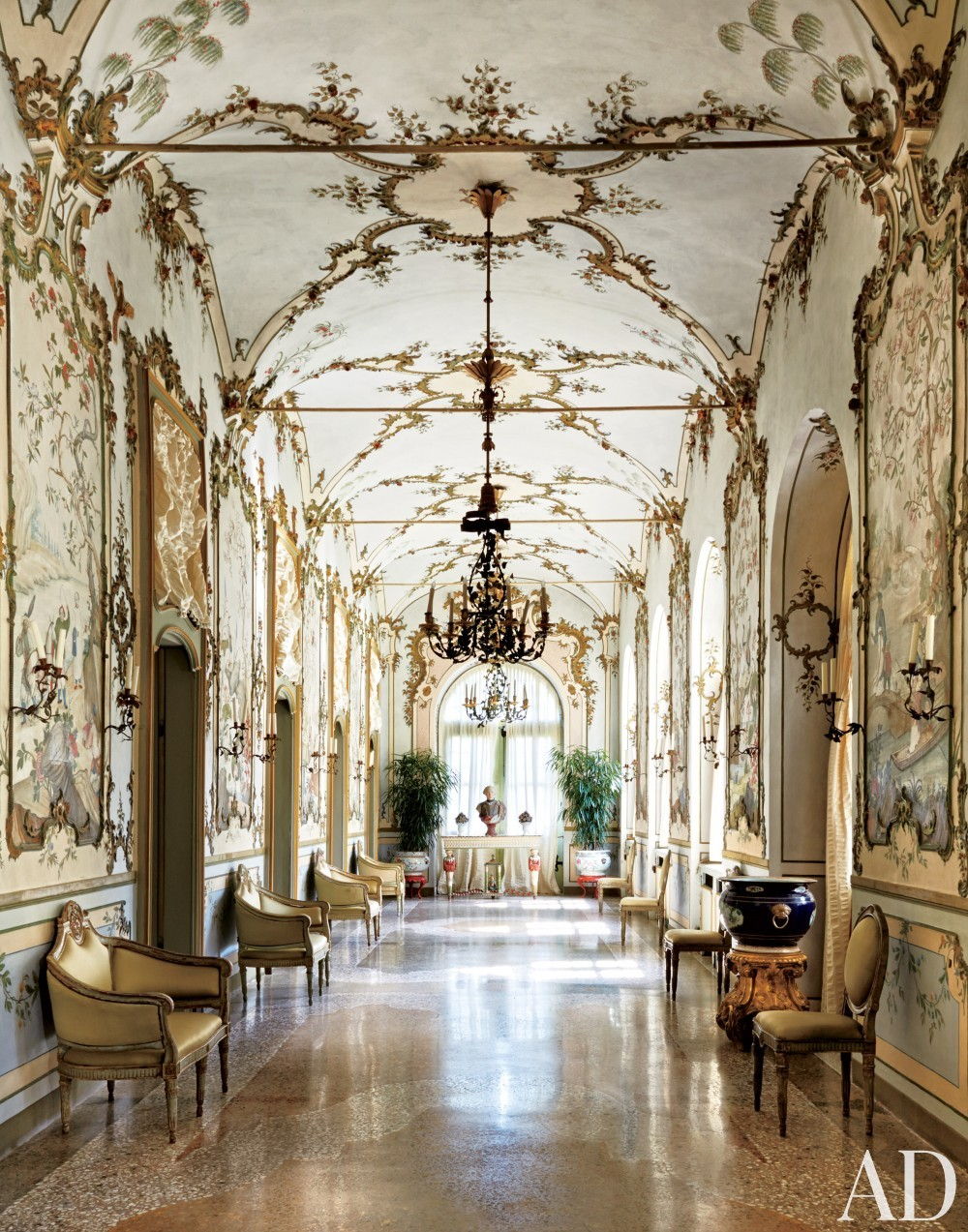 Traditional Entrance Hall by Stephane Boudin in Northern Italy