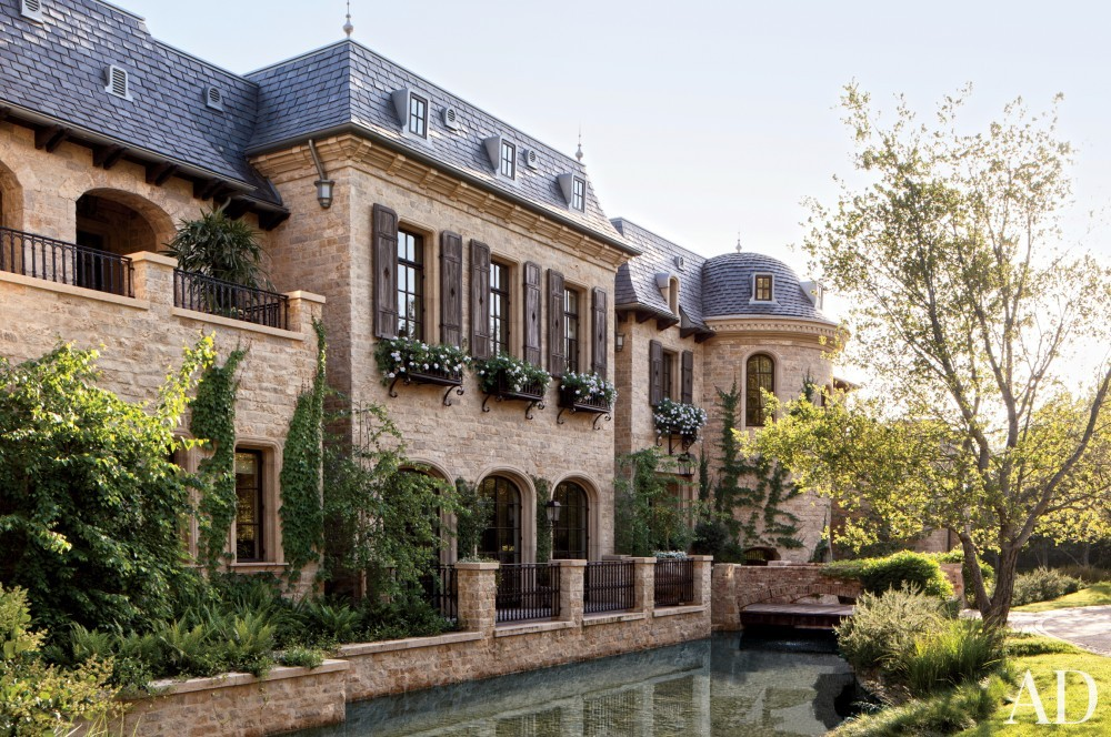 Traditional Exterior by Joan Behnke & Associates Inc. and Landry Design Group Inc. in Los Angeles, California