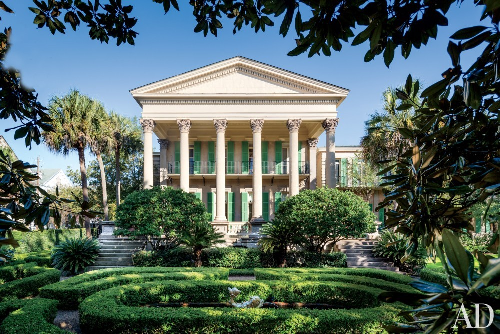 Traditional Exterior by Mario Buatta in Charleston, South Carolina