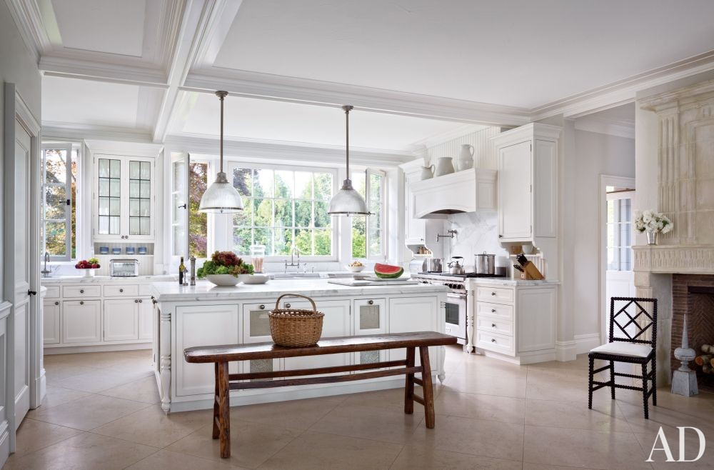 Traditional Kitchen by CarolEgan Interiors and Andre Tchelistcheff Architects in Water Mill, New York
