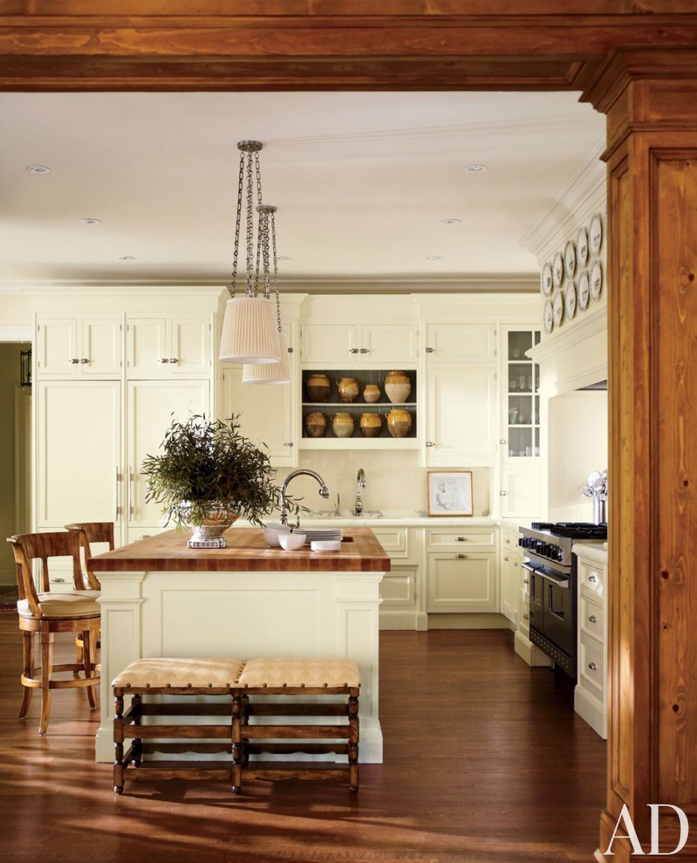 Traditional Kitchen by Timothy Corrigan Inc. in Lake Forest, Illinois