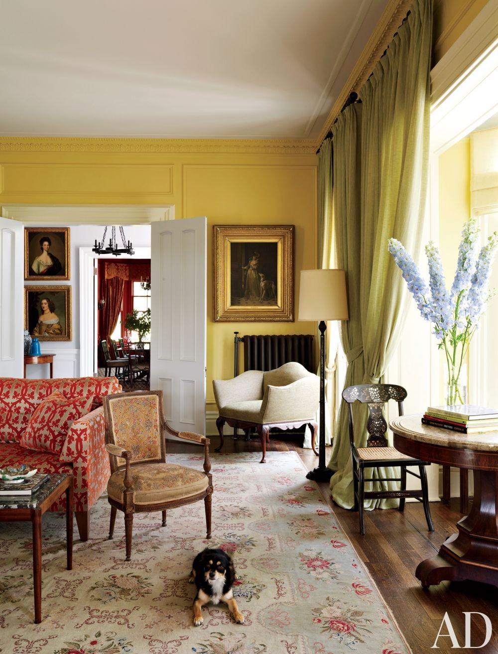 Traditional Living Room by Alison Spear in Dutchess County, New York
