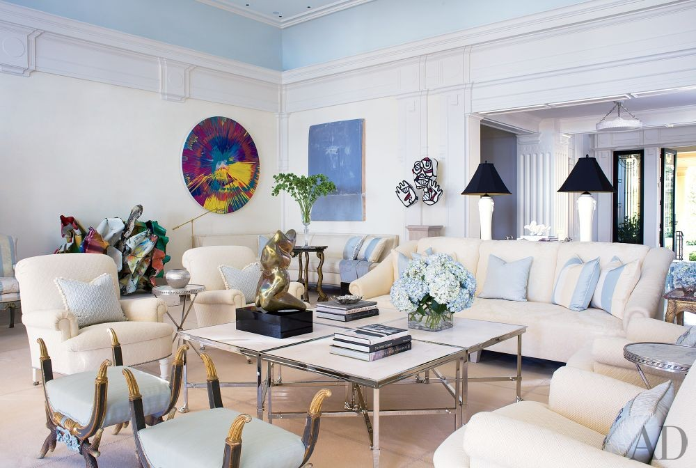 Traditional Living Room by Aman & Carson in Palm Beach, Florida