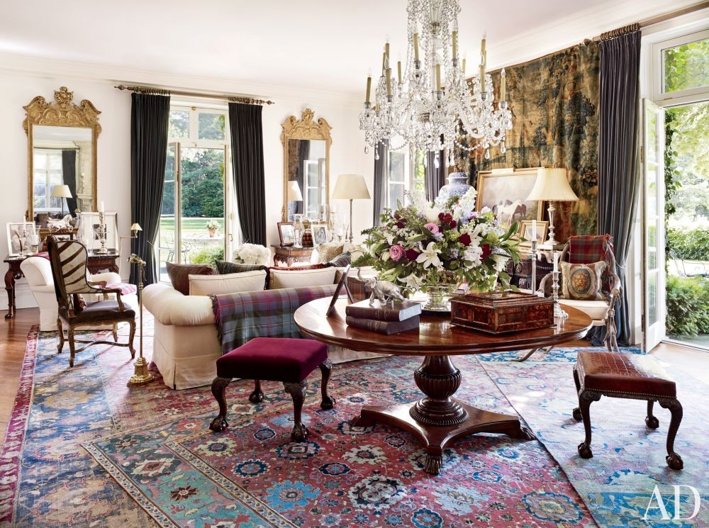 Traditional Living Room in Bedford, New York