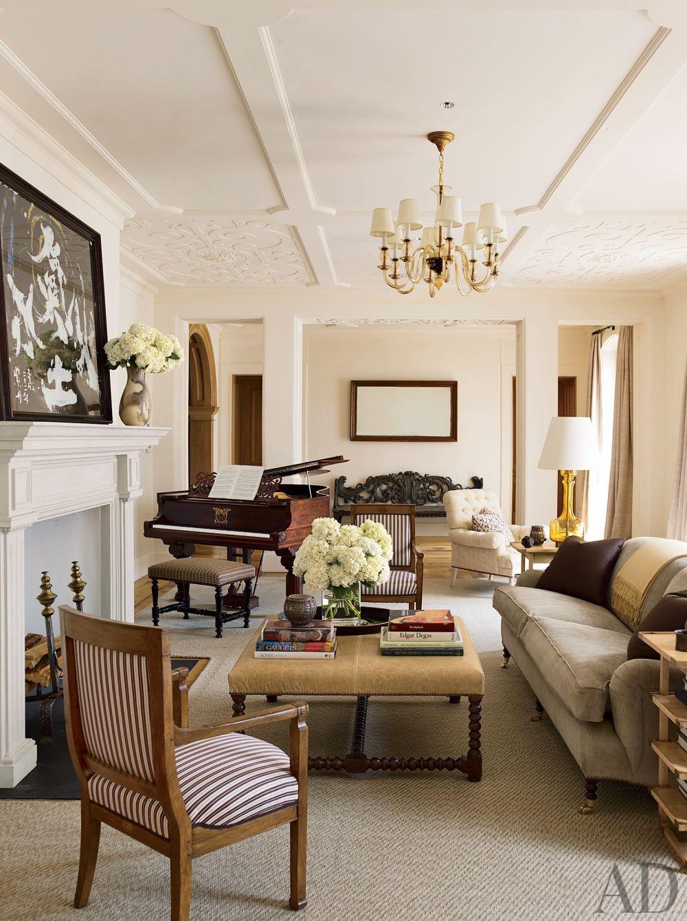 Traditional Living Room by David Kleinberg Design Associates and Atelier & Co in Philadelphia, Pennsylvania