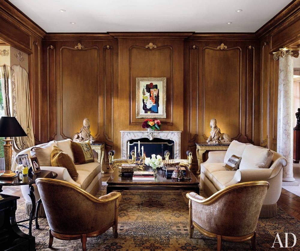 Traditional Living Room by Donna Livingston in Beverly Hills, California