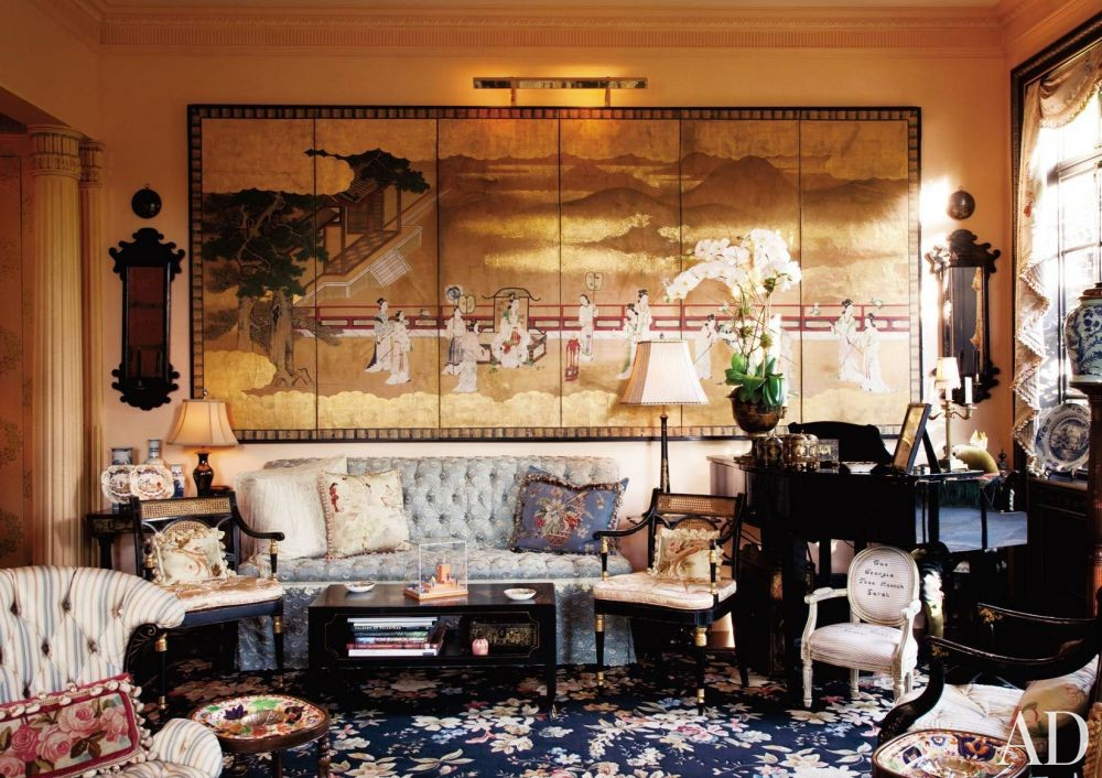 Traditional Living Room by Friederike Kemp Biggs and George W. Sweeney in New York, New York
