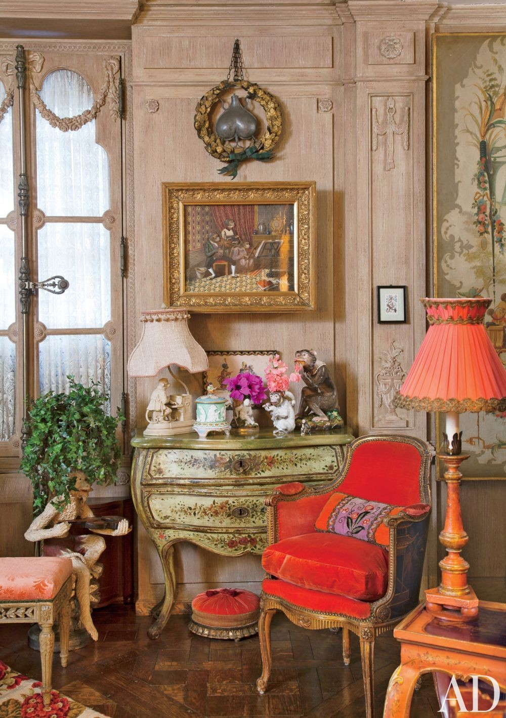 Traditional Living Room by Iris Apfel in New York, New York