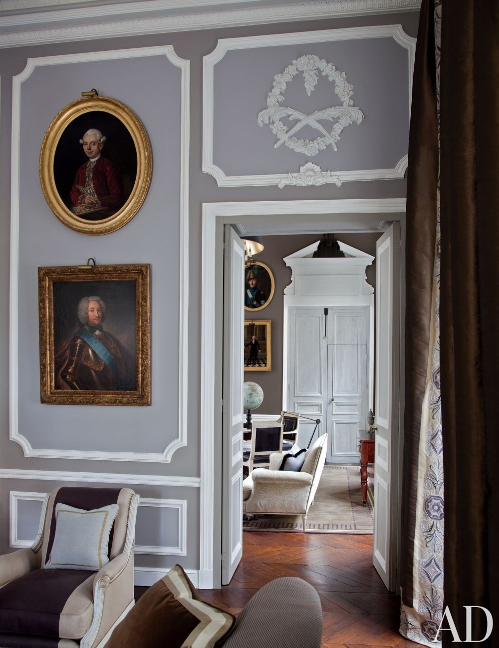 Traditional Living Room by Jean-Louis Deniot in Paris, France