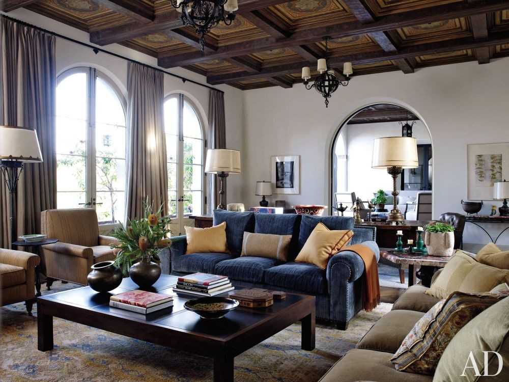 Traditional Living Room by Madeline Stuart & Associates and Kevin A. Clark in Los Angeles