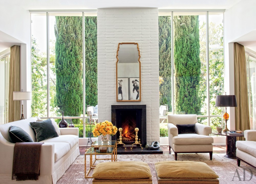 Traditional Living Room by Madeline Stuart & Associates in Los Angeles, California