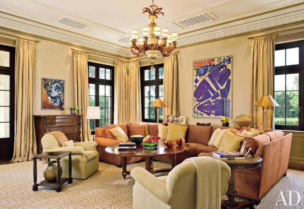 Traditional Living Room By Marjorie Shushan By