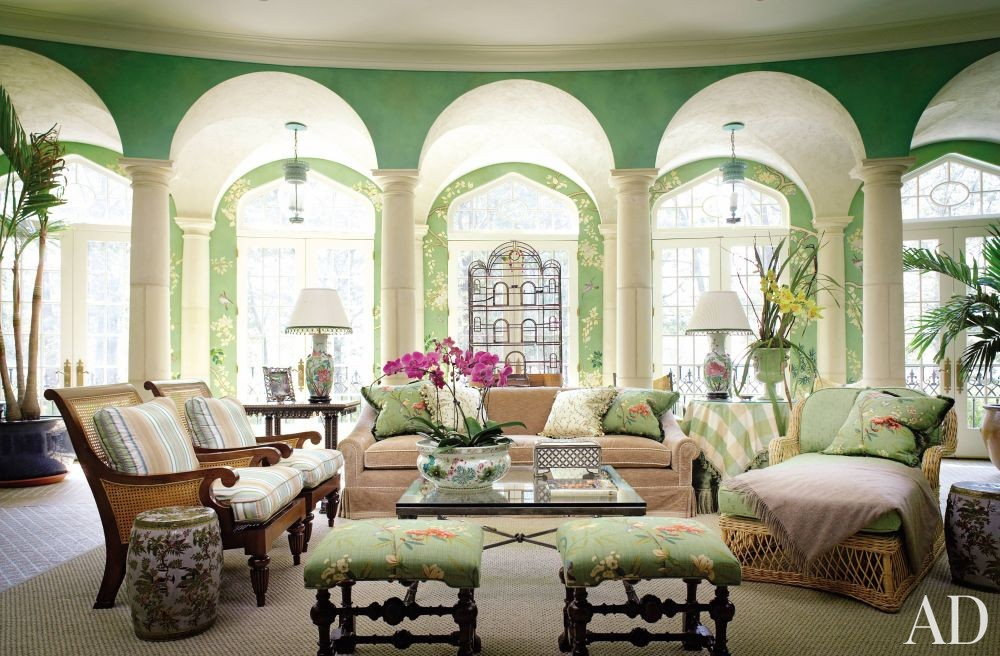 Traditional living room by mark hampton llc by for Ad garden rooms