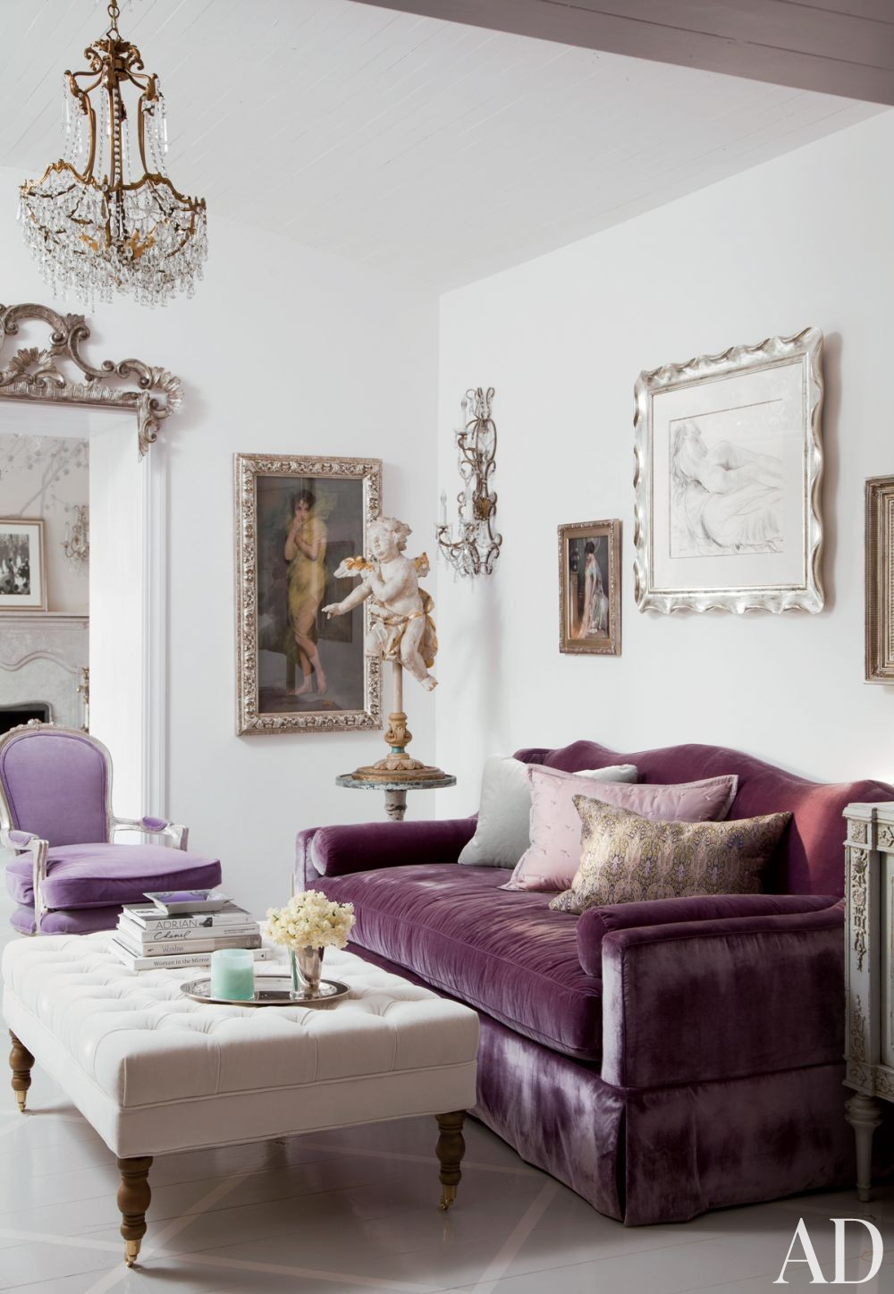 Traditional Living Room by Martyn Lawrence Bullard Design in Los Angeles, California