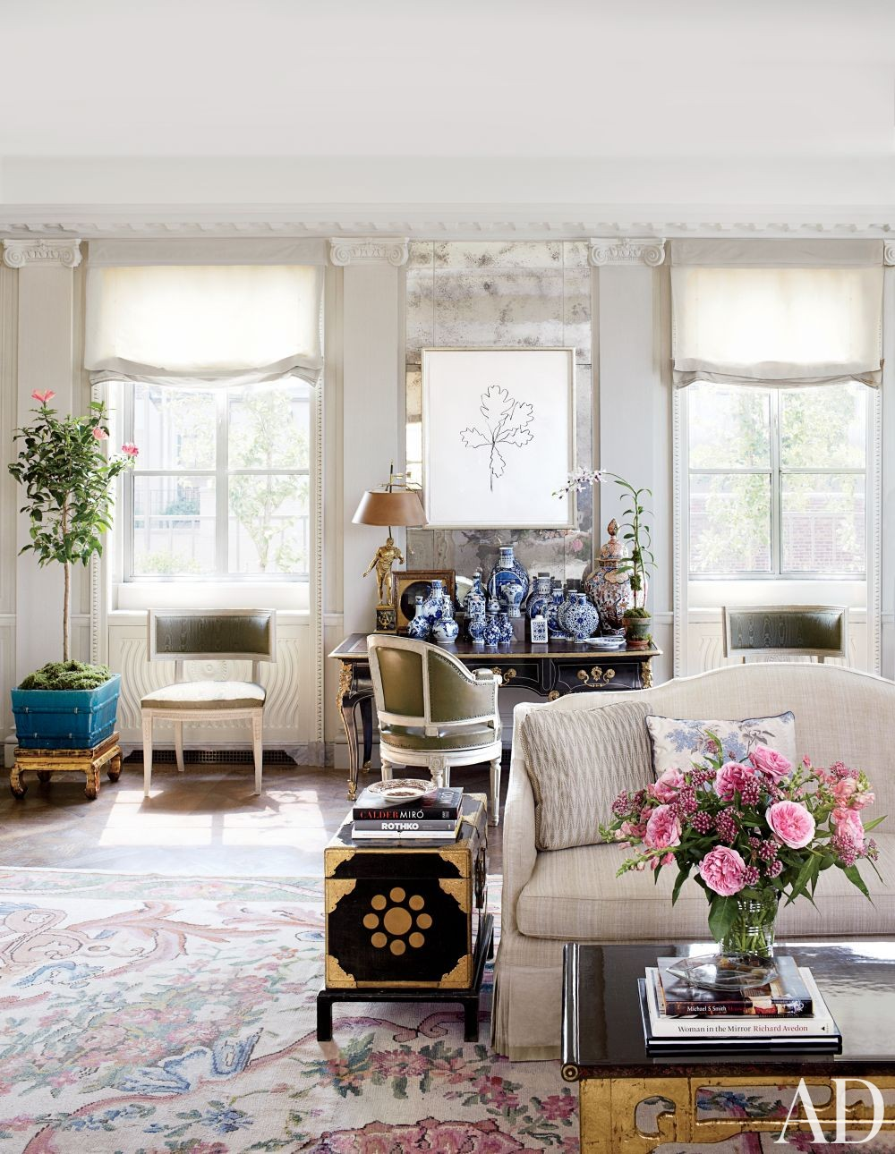 Traditional Living Room By Michael S Smith Inc By Architectural Digest AD