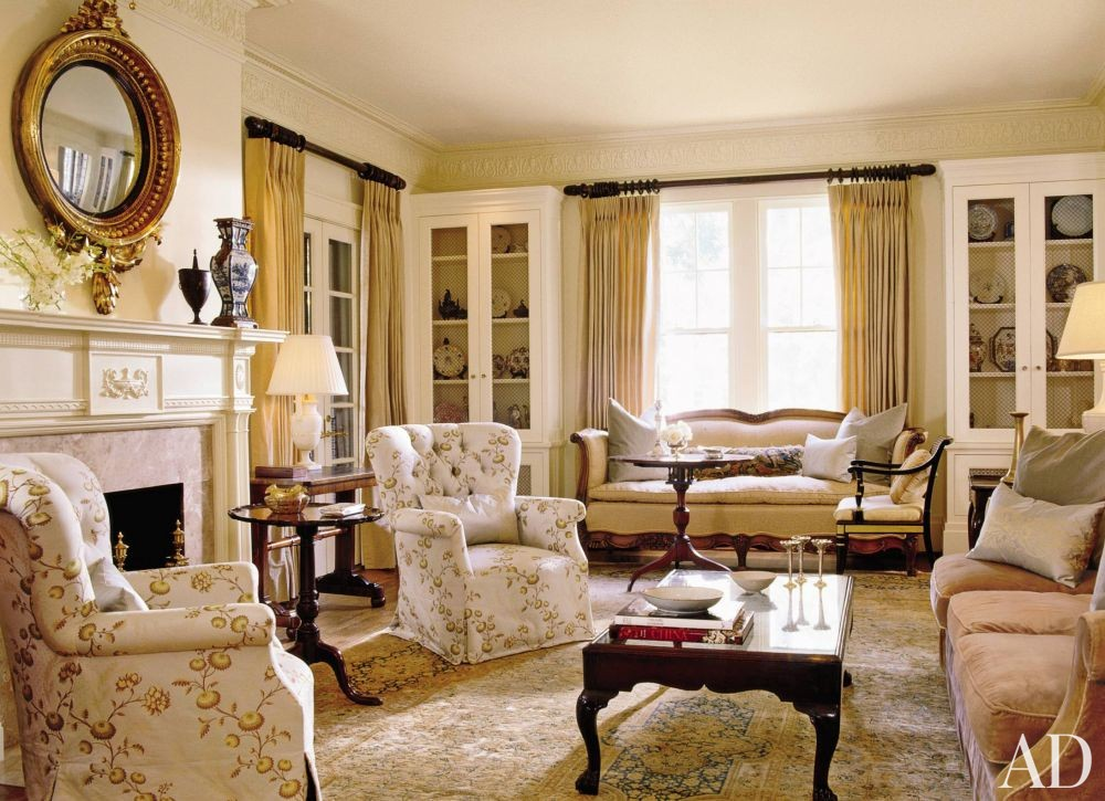 Traditional Living Room By Mona Hajj Interiors Inc By