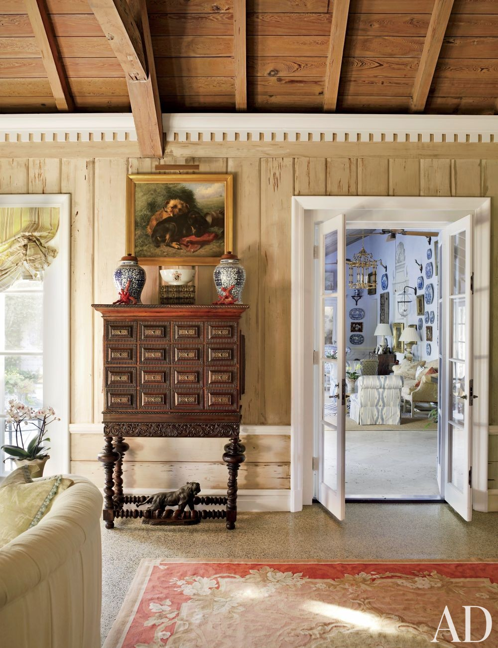 Traditional Living Room by Nancy Morton and F. Burrall Hoffman Jr. in Boca Grande, Florida