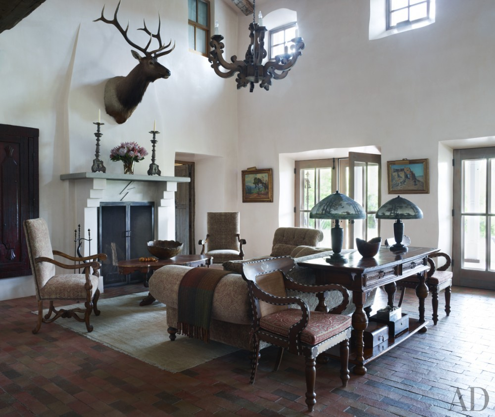Traditional Living Room in New Mexico