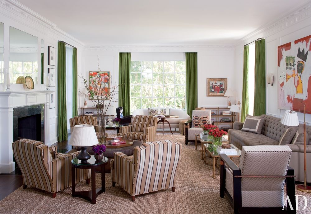 Traditional Living Room by Peter Dunham Design in Beverly Hills, California