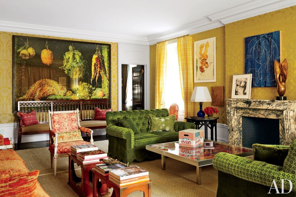 Traditional Living Room by Peter Marino Architect in New York, New York