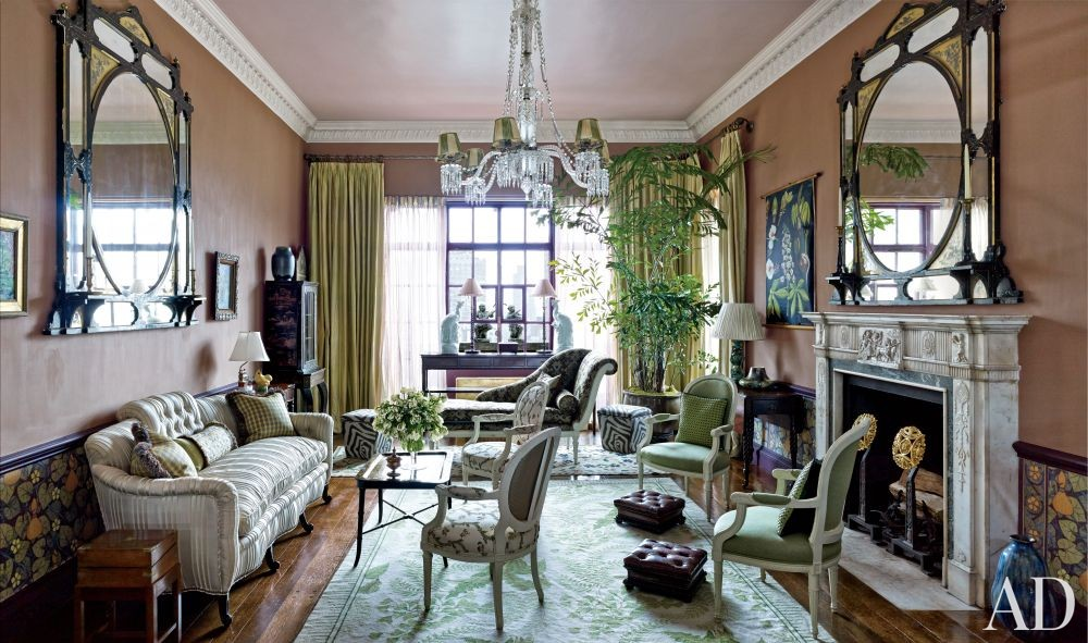 Traditional Living Room by Rain Phillips in New York, New York