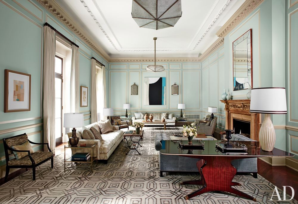 Traditional Living Room by S.R. Gambrel Inc. and Oliver Cope Architect in Old Westbury, New York