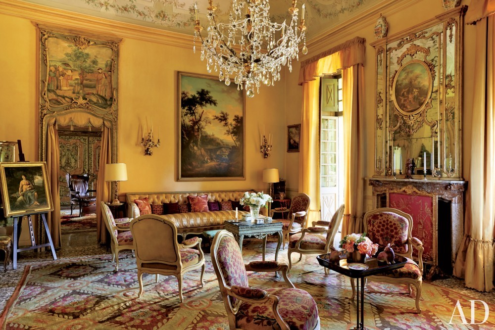 Traditional Living Room by Stephane Boudin in Northern Italy