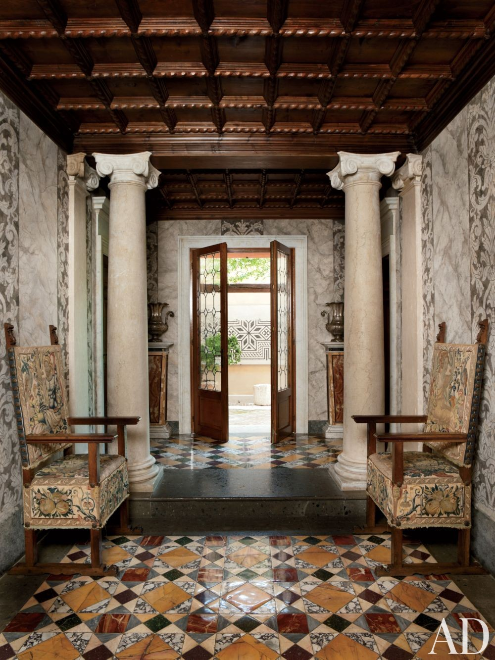 Traditional Living Room by Studio Peregalli in Oderzo, Italy