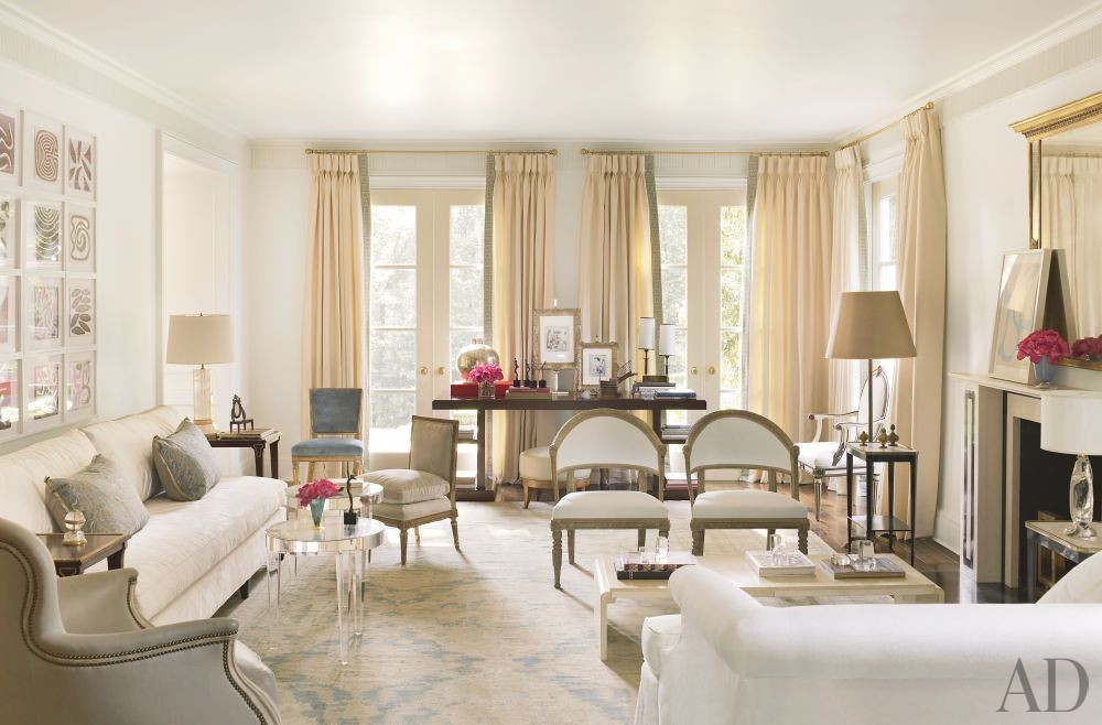 Traditional Living Room by Suzanne Kasler Interiors and William T. Baker & Associates Ltd. in Atlanta, Georgia