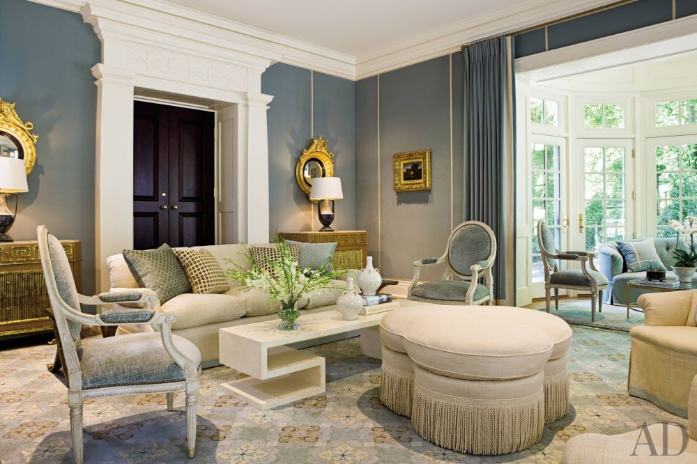 Traditional Living Room by Thomas Pheasant in Virginia