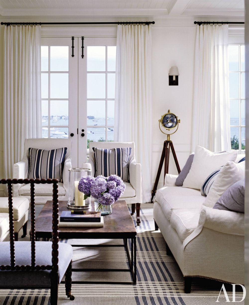 New England Living Room A New England Calm Design Ad Designfile Home Decorating Photos